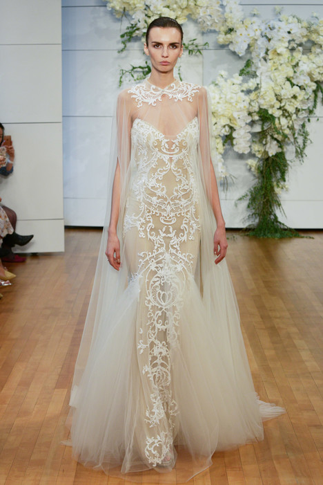 Bastille Wedding                                          dress by Monique Lhuillier