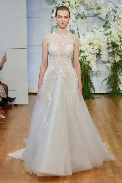 Sage Wedding                                          dress by Monique Lhuillier
