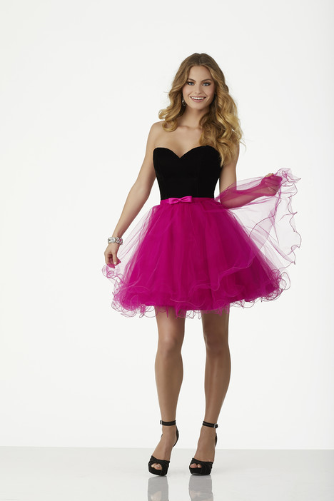 33010 (black + fuchsia) Prom                                             dress by Mori Lee : Sticks and Stones