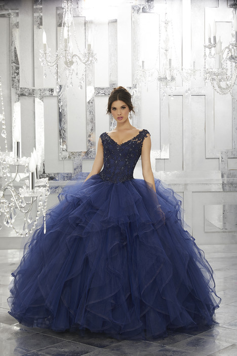 60026 (navy) Prom                                             dress by Mori Lee : Valencia