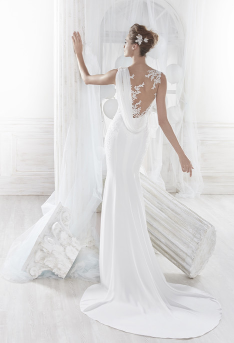 NIAB18048 (back) Wedding                                          dress by Nicole Spose
