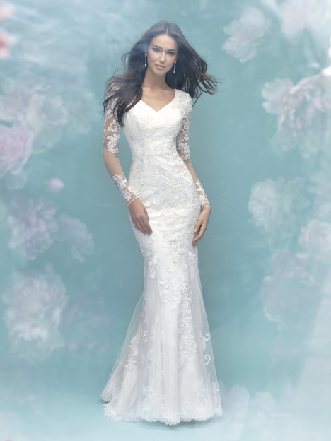 M580 Wedding                                          dress by Allure Bridals: Allure Modest