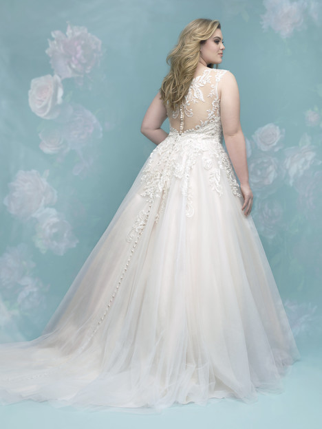 W401 (back) Wedding                                          dress by Allure Women
