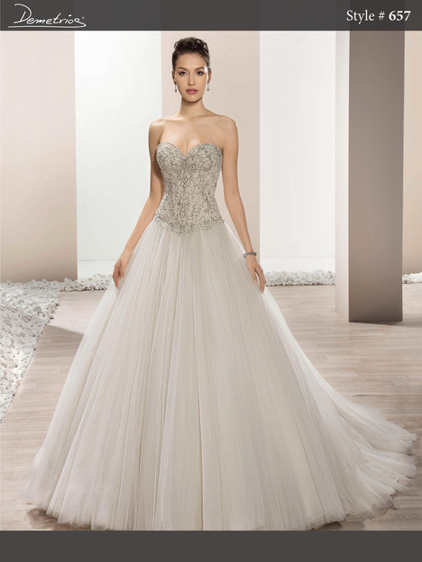 657 Wedding dress by Demetrios Bride