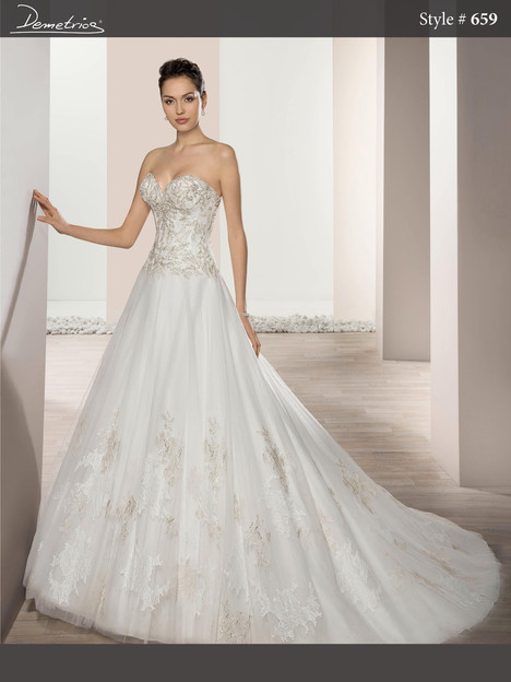 659 Wedding dress by Demetrios Bride