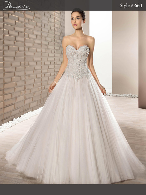 664 Wedding dress by Demetrios Bride