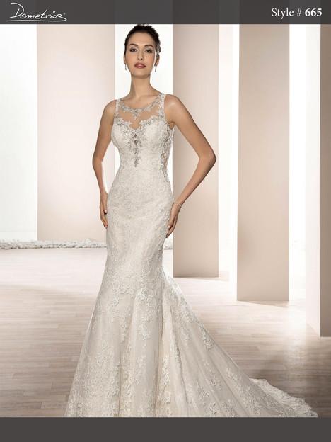 665 Wedding                                          dress by Demetrios Bride