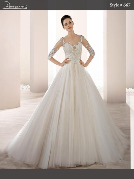 667 Wedding                                          dress by Demetrios Bride