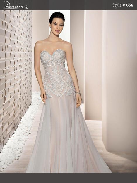 668 Wedding                                          dress by Demetrios Bride