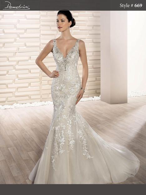 669 Wedding                                          dress by Demetrios Bride