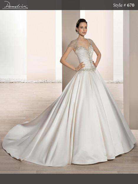 670 Wedding                                          dress by Demetrios Bride