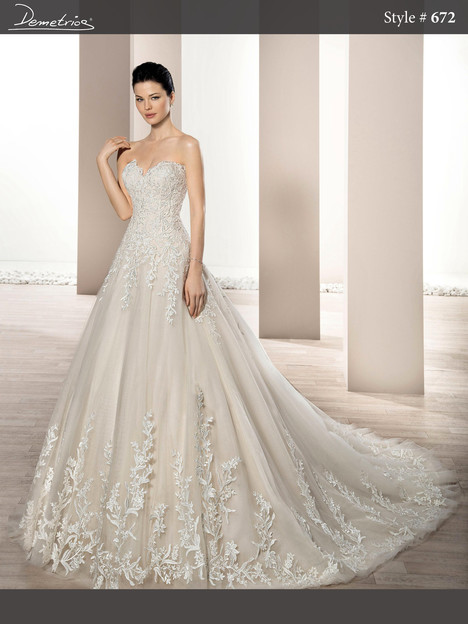672 Wedding dress by Demetrios Bride