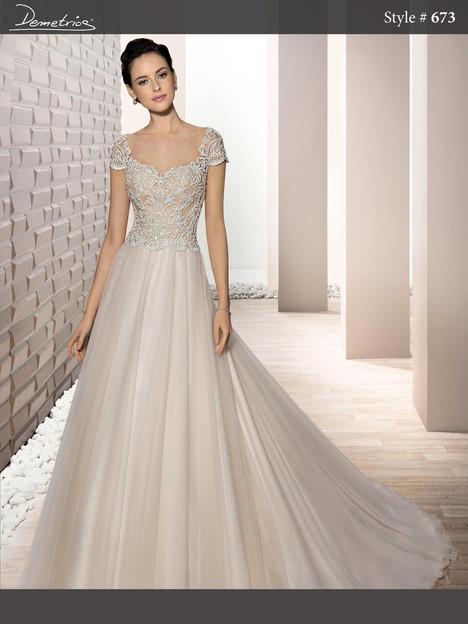 673 Wedding                                          dress by Demetrios Bride