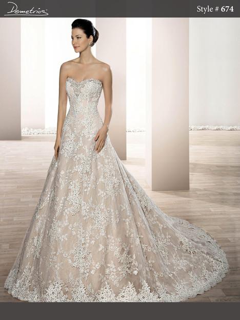 674 Wedding                                          dress by Demetrios Bride