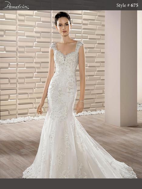 675 Wedding                                          dress by Demetrios Bride