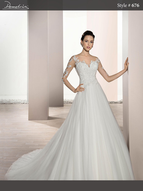 676 Wedding                                          dress by Demetrios Bride