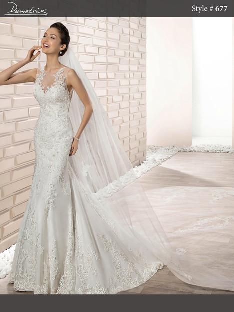 677 Wedding                                          dress by Demetrios Bride