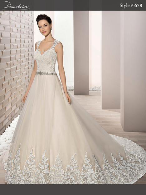 678 Wedding                                          dress by Demetrios Bride
