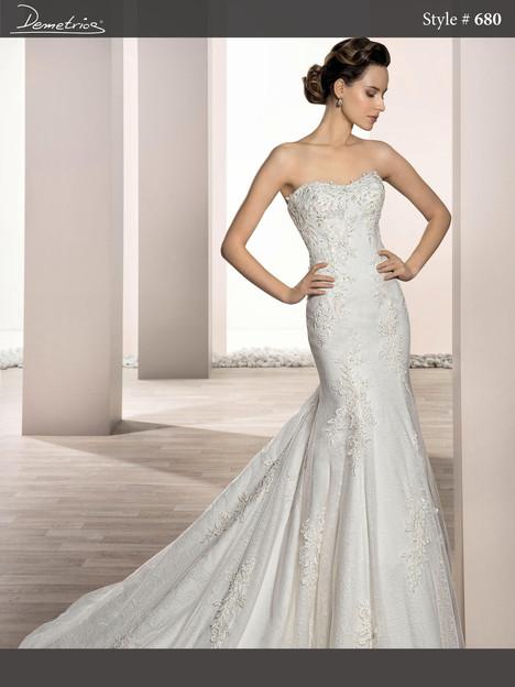 680 Wedding                                          dress by Demetrios Bride