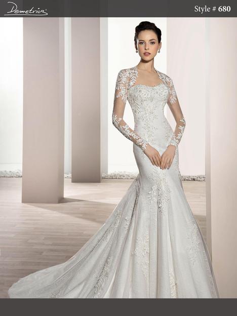680 (2) Wedding                                          dress by Demetrios Bride