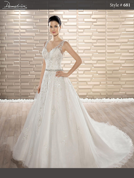 681 Wedding dress by Demetrios Bride