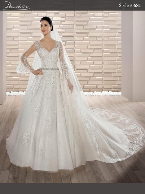 681 (2) Wedding                                          dress by Demetrios Bride