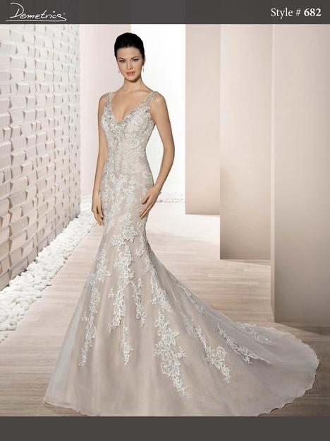 682 Wedding                                          dress by Demetrios Bride