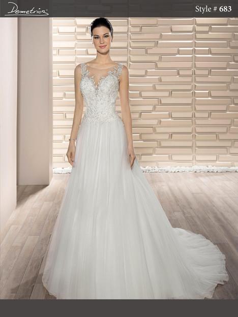 683 Wedding                                          dress by Demetrios Bride