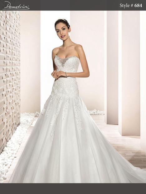 684 Wedding                                          dress by Demetrios Bride