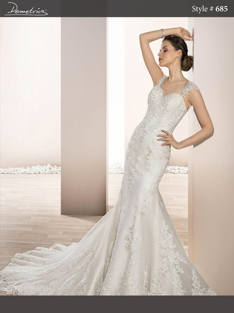 685 Wedding                                          dress by Demetrios Bride