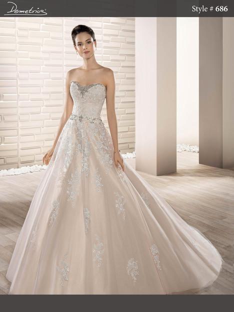 686 Wedding                                          dress by Demetrios Bride