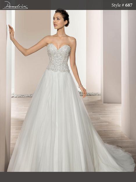 687 Wedding                                          dress by Demetrios Bride