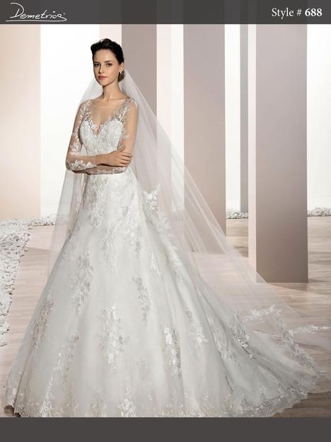 688 Wedding                                          dress by Demetrios Bride