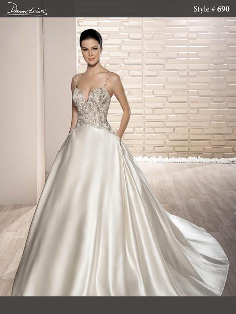 690 Wedding                                          dress by Demetrios Bride