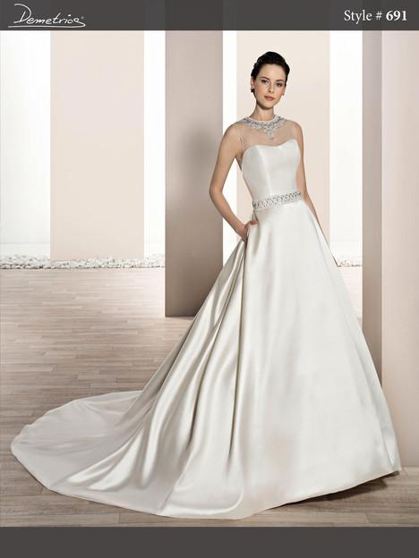 691 Wedding                                          dress by Demetrios Bride