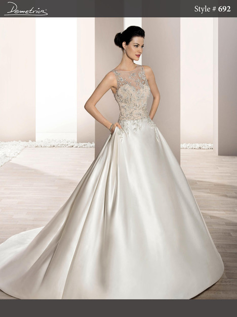 692 Wedding                                          dress by Demetrios Bride