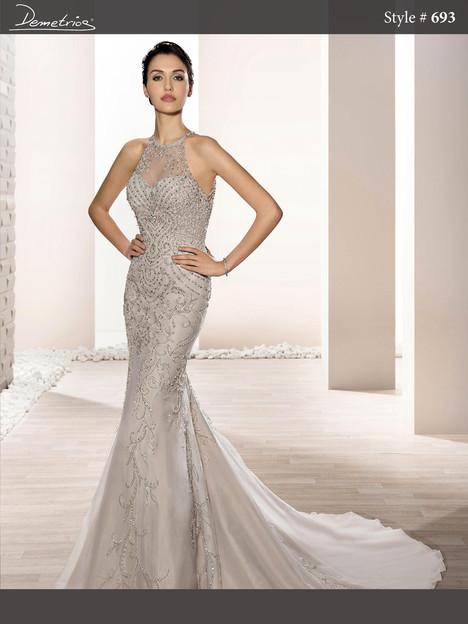693 Wedding                                          dress by Demetrios Bride