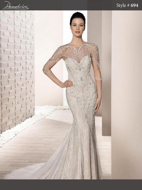 694 Wedding                                          dress by Demetrios Bride