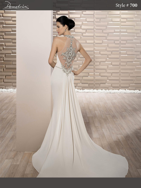 700 (back) Wedding                                          dress by Demetrios Bride