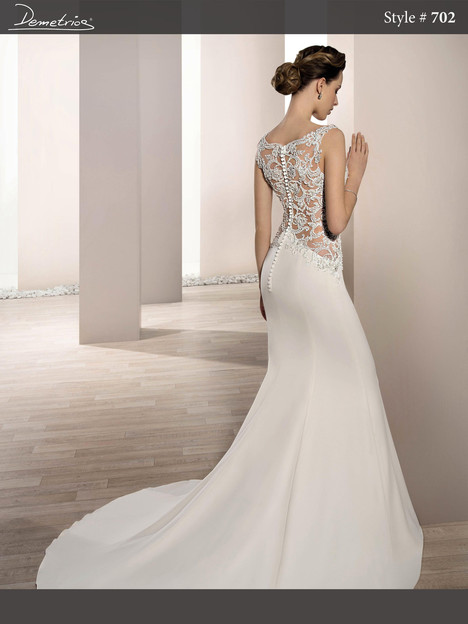 702 (back) gown from the 2017 Demetrios Bride collection, as seen on dressfinder.ca