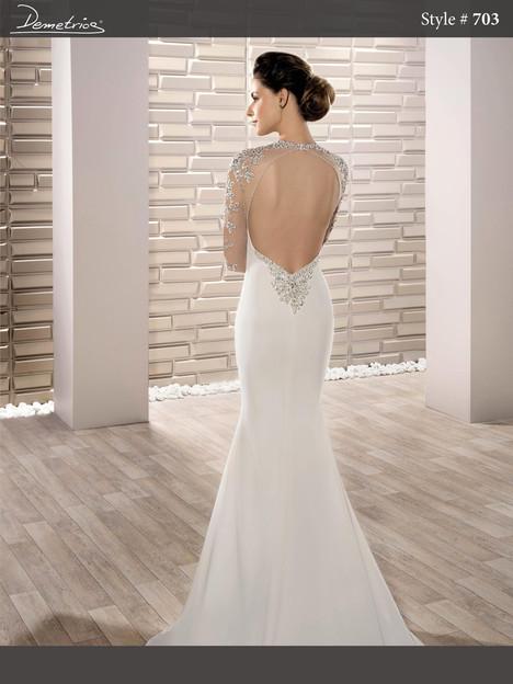703 (back) Wedding                                          dress by Demetrios Bride