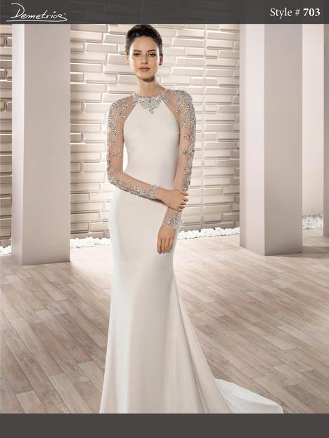 703 Wedding                                          dress by Demetrios Bride