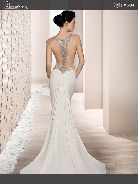 704 (back) Wedding dress by Demetrios Bride