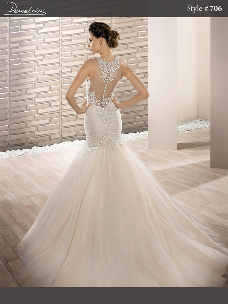706 (back) Wedding dress by Demetrios Bride