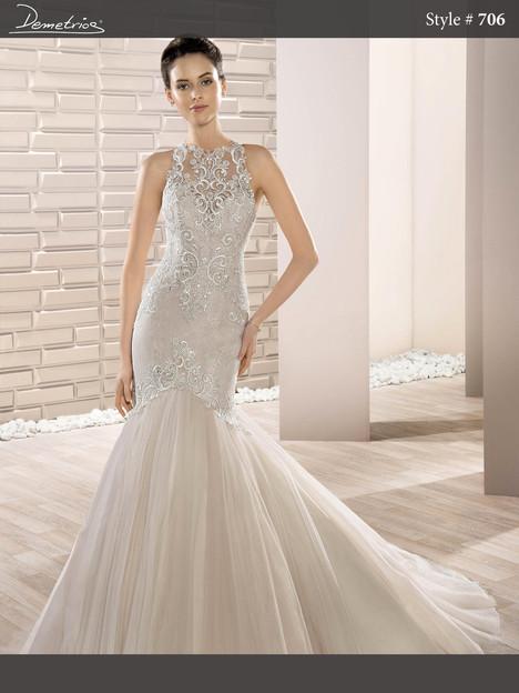 706 Wedding                                          dress by Demetrios Bride