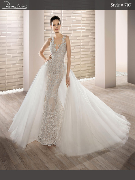 707 (2) Wedding                                          dress by Demetrios Bride