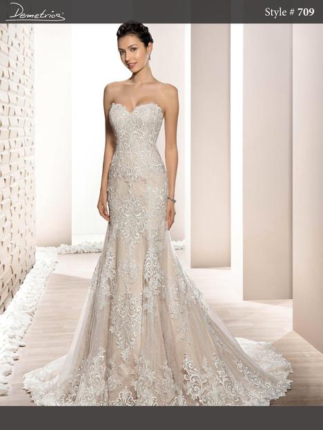 709 Wedding                                          dress by Demetrios Bride