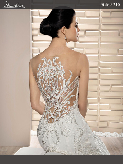 710 (back) gown from the 2017 Demetrios Bride collection, as seen on dressfinder.ca