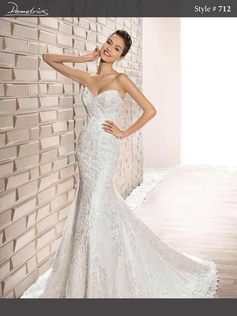 712 Wedding                                          dress by Demetrios Bride