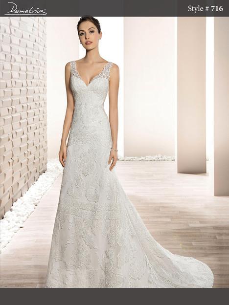 716 Wedding                                          dress by Demetrios Bride